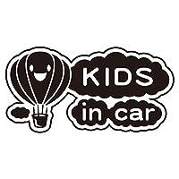 imoninn KIDS in car ステッカー 【シンプル版】 No.32 気球 (黒色)