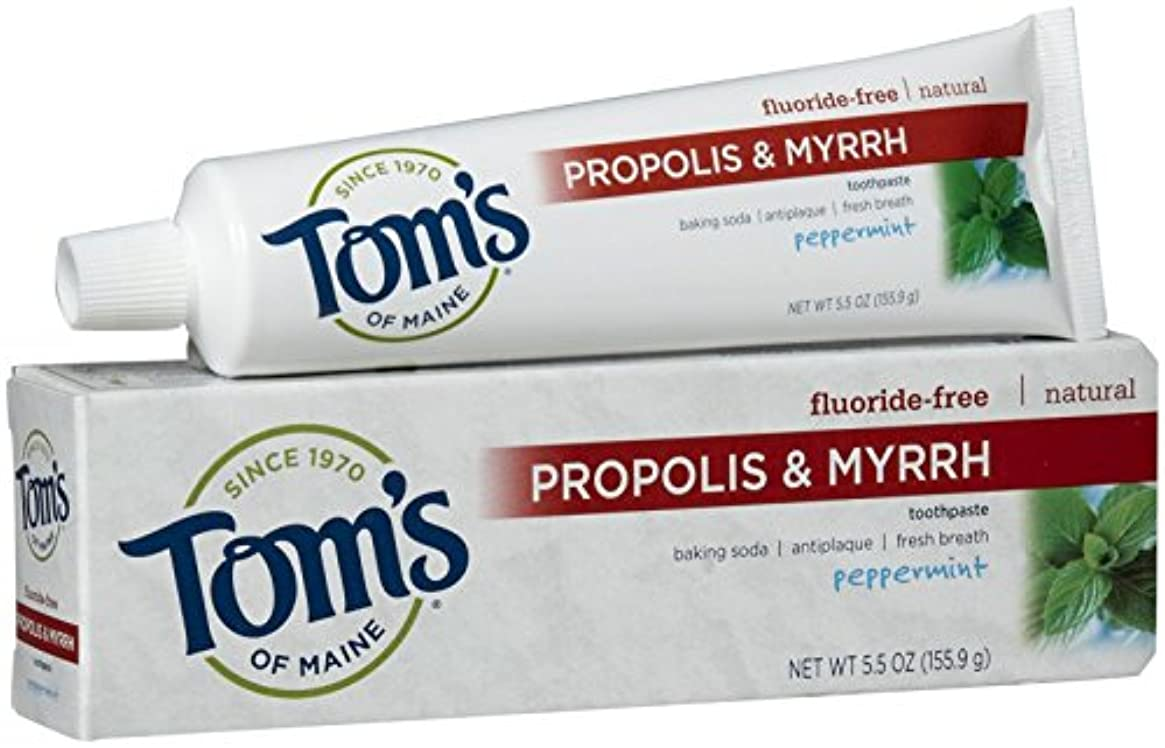 インタネットを見るデコラティブクラシカルTom's of Maine - Natural Toothpaste Propolis And Myrrh Fluoride-Free Peppermint - 5.5 Oz. by Tom's of Maine