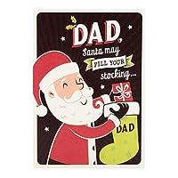ホールマークSweet Santa Stocking ' Dadクリスマスグリーティングカード–Medium