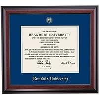 Brandeis審査員卒業証書フレームブルーグレーエンボスマットシール