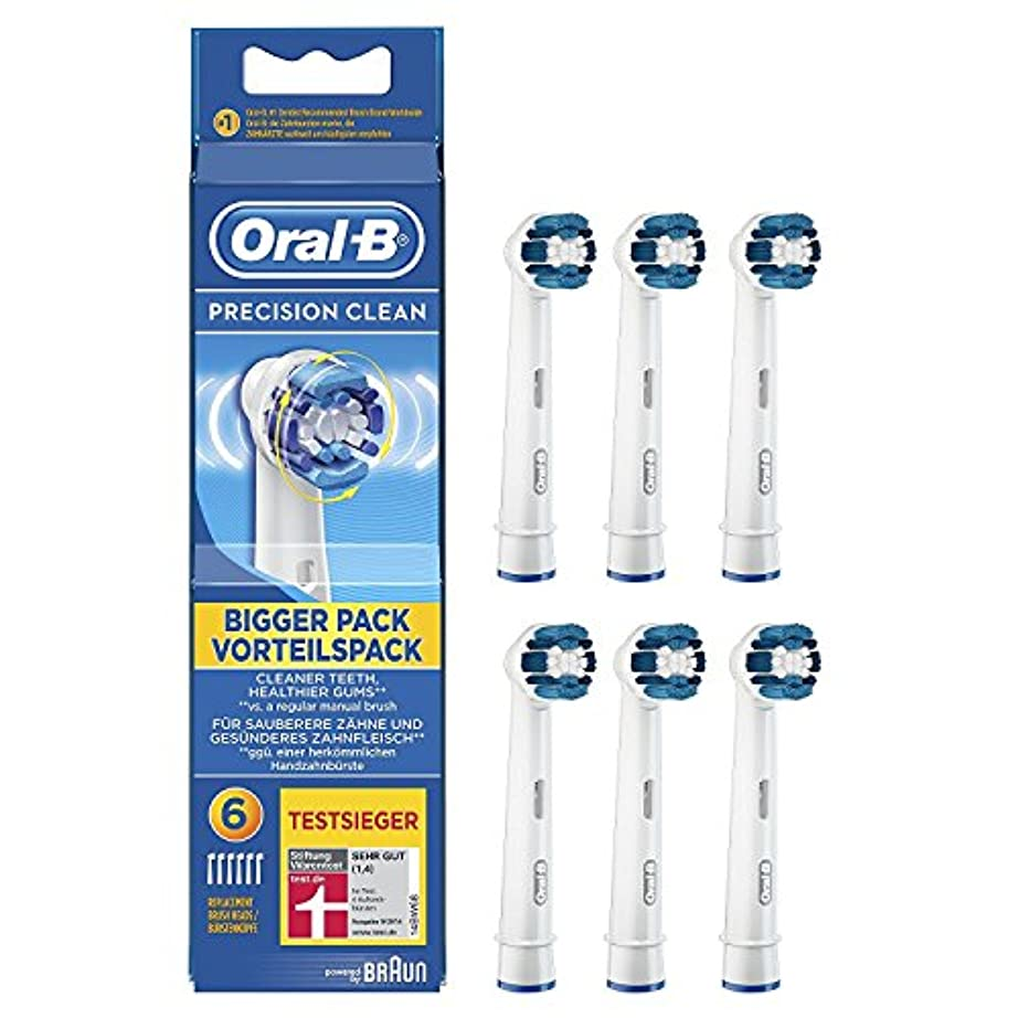有彩色のすすり泣き美人ブラウン オーラルB 電動歯ブラシ 替ブラシ プレシジョンクリーン Oral-B Precision Clean 6 [並行輸入品]