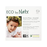 Natyエコパックあたり3×56無香ワイプ (Nature) (x 6) - Naty Eco Wipes Unscented 3 x 56 per pack (Pack of 6) [並行輸入品]