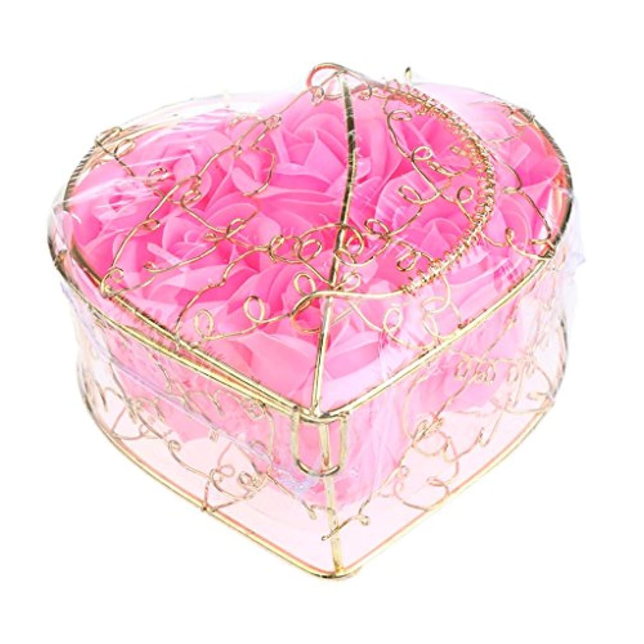 主張彼らのレモン6個 石鹸の花 母の日 プレゼント 石鹸 お花 枯れないお花 心の形 ギフトボックス プレゼント 全5仕様選べる - ピンク