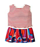 [ジュニア ゴルチエ] Junior Gaultier レディース Striped/Color Block Front and Back Printed Dress (Toddler/Little Kids) ドレス Bleu Drapeau 2Y [並行輸入品]