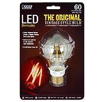 Feit bpat19/ LED元のビンテージスタイルでベースクリア調光機能付きLEDライト電球60W Equivalen a19ミディアムFeit
