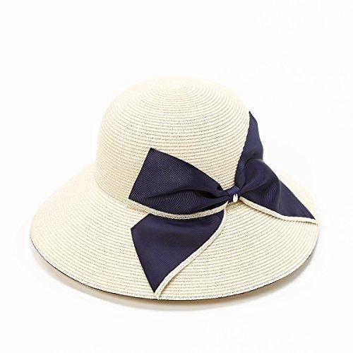 [トプカピ] TOPKAPI 帽子 ペーパーブレードビッグリボン付き帽 オフ