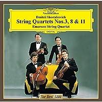 ショスタコーヴィチ:弦楽四重奏第3番&第8番&第11番