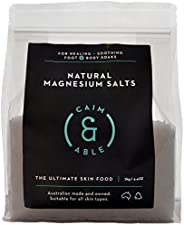 Caim & Able Magnesium Flakes Bulk 2kg - Pure Unscented Natural Chloride - Australian Made Bath Salts - Magnesium Supplement