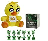 Five Nights At Freddy 'sギフトセット – Chica Plush andグローin theダークMystery Minis Blind Box Vinyl Figure