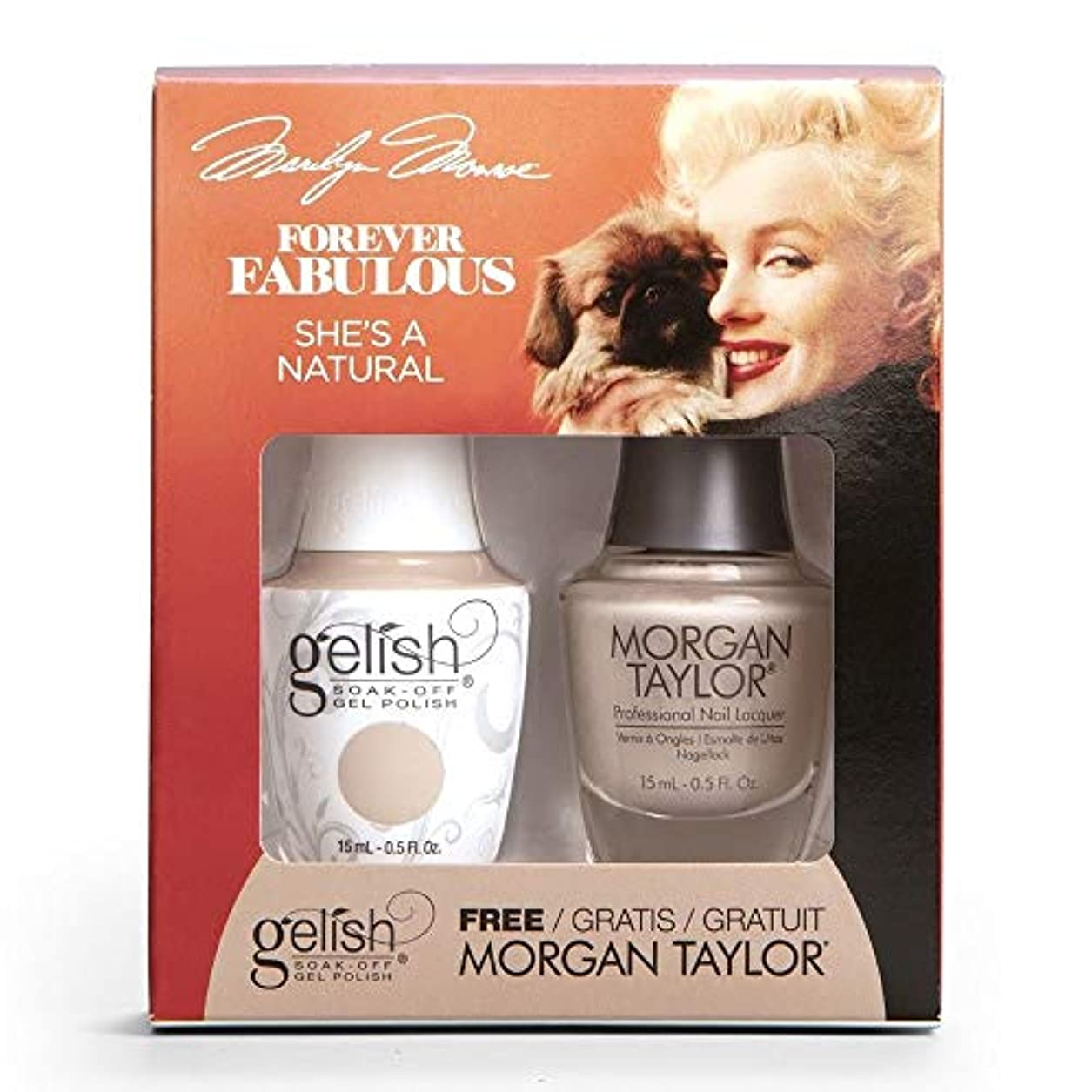 連帯タヒチサイズHarmony Gelish & Morgan Taylor - Two Of A Kind - Forever Fabulous Marilyn Monroe - She's A Natural - 15 mL / 0.5 Oz