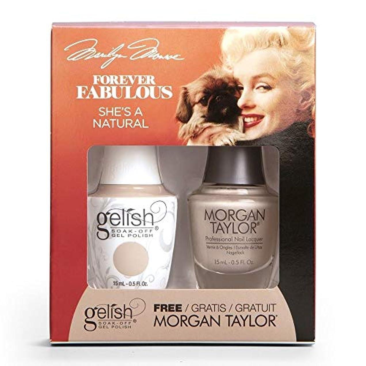 クックリーガン幻影Harmony Gelish & Morgan Taylor - Two Of A Kind - Forever Fabulous Marilyn Monroe - She's A Natural - 15 mL / 0.5 Oz