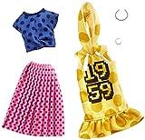 バービー バービー ファッション2パック ポルカドット 着せ替え人形用ドレス アクセサリー GHX60