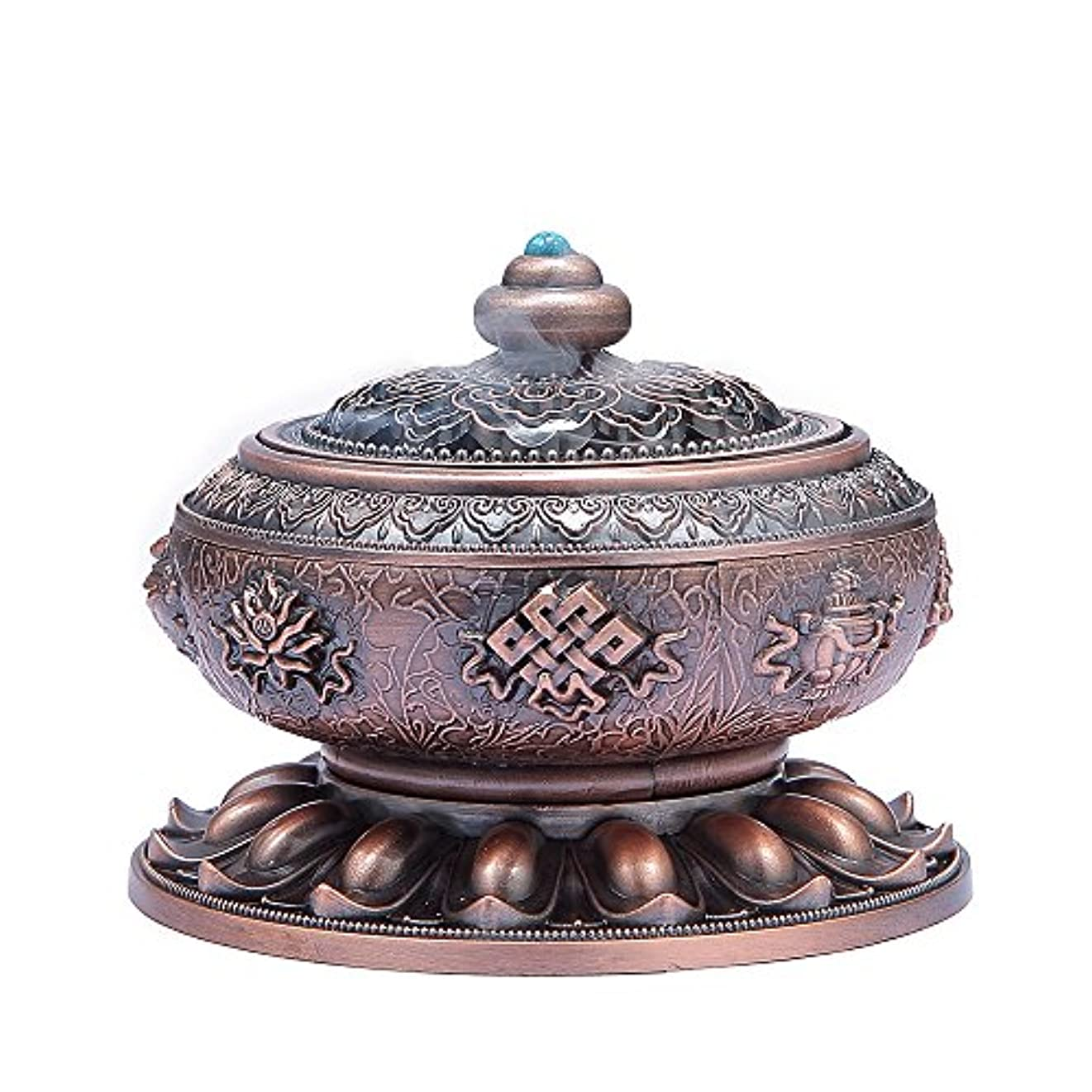 震える意味のあるビールMEDOOSKY Large Incense Holder Burner Tibet Lotus Copper Alloy( Stick/ Cone/ Coil Incense)