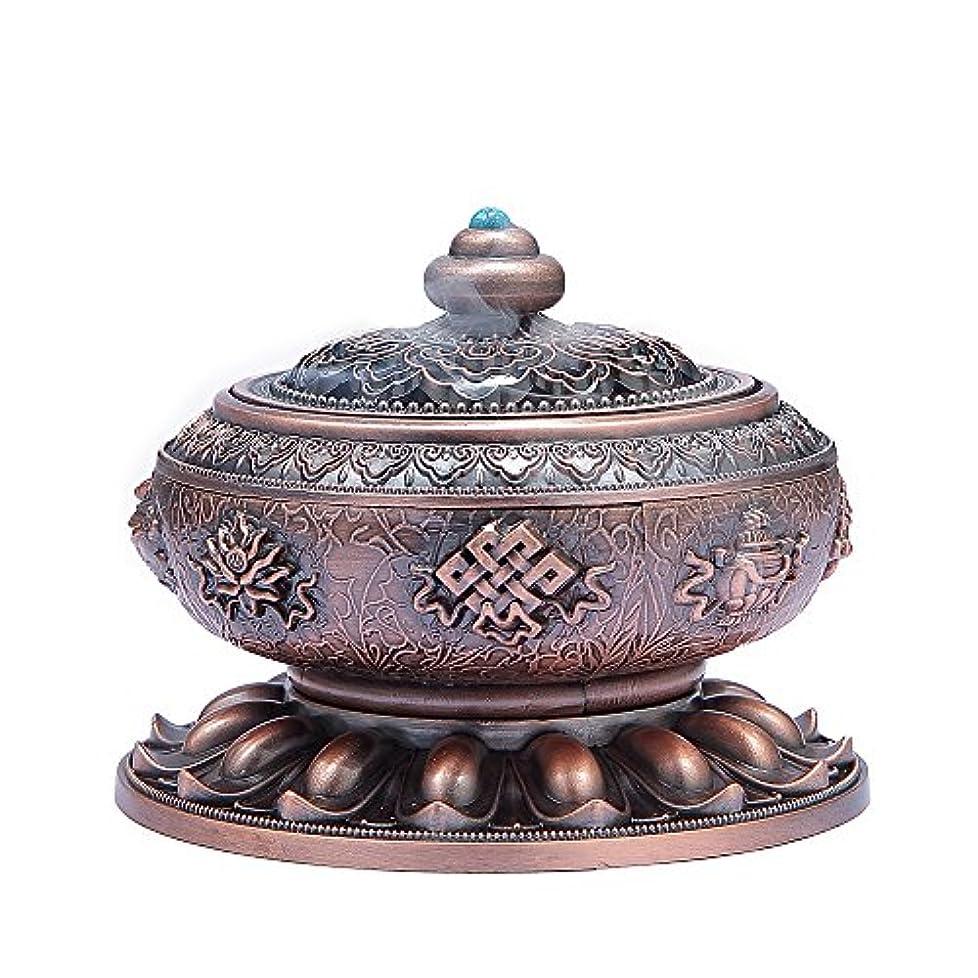 磨かれた膨張する解決するMEDOOSKY Large Incense Holder Burner Tibet Lotus Copper Alloy( Stick/ Cone/ Coil Incense)
