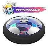 Kids Toys ホバーサッカーボールセット ゴール2個付き エアサッカー LEDライト付き 優れた時間キラー 男の子/女の子用 ホバリングサッカーボール フォームバンパー付き インドアゲーム用 空気注入式ボール付き JT866