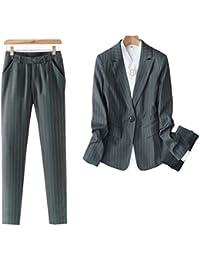 スーツレディース ビジネス フォーマル 通勤 就活 ストライプ ストレッチ 魅力的 リクルート 大きいサイズ パンツスーツ セットアップ