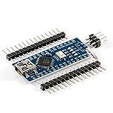 HiLetgo Mini USB Nano V3.0 ATmega328P CH340G 5V 16M マイクロコントローラーボード Arduinoと互換(3個セット)