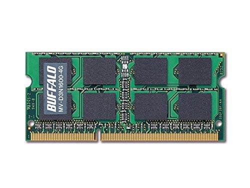 バッファロー D3N1600ー4G相当 法人向け(白箱)6年保証 PC3ー12800 DDR3 SDRAM S.O.DIMM 4GB MV-D3
