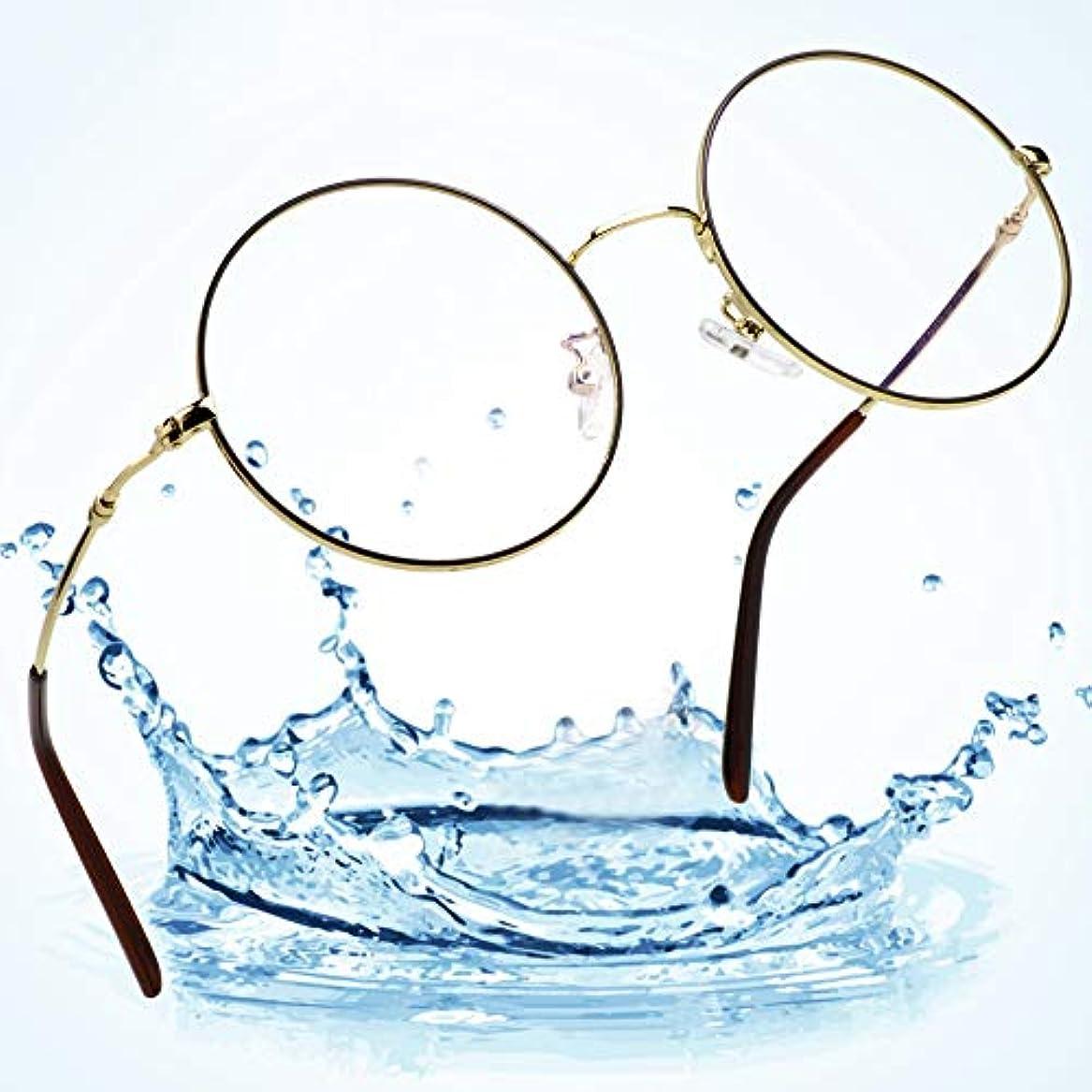 レンドアーティファクトファブリックLifeArtブルーライトブロッキングメガネ、UV400アンチアイストレイン、男性/女性用合金フレーム (ゴールド&ブラック, 0.00)