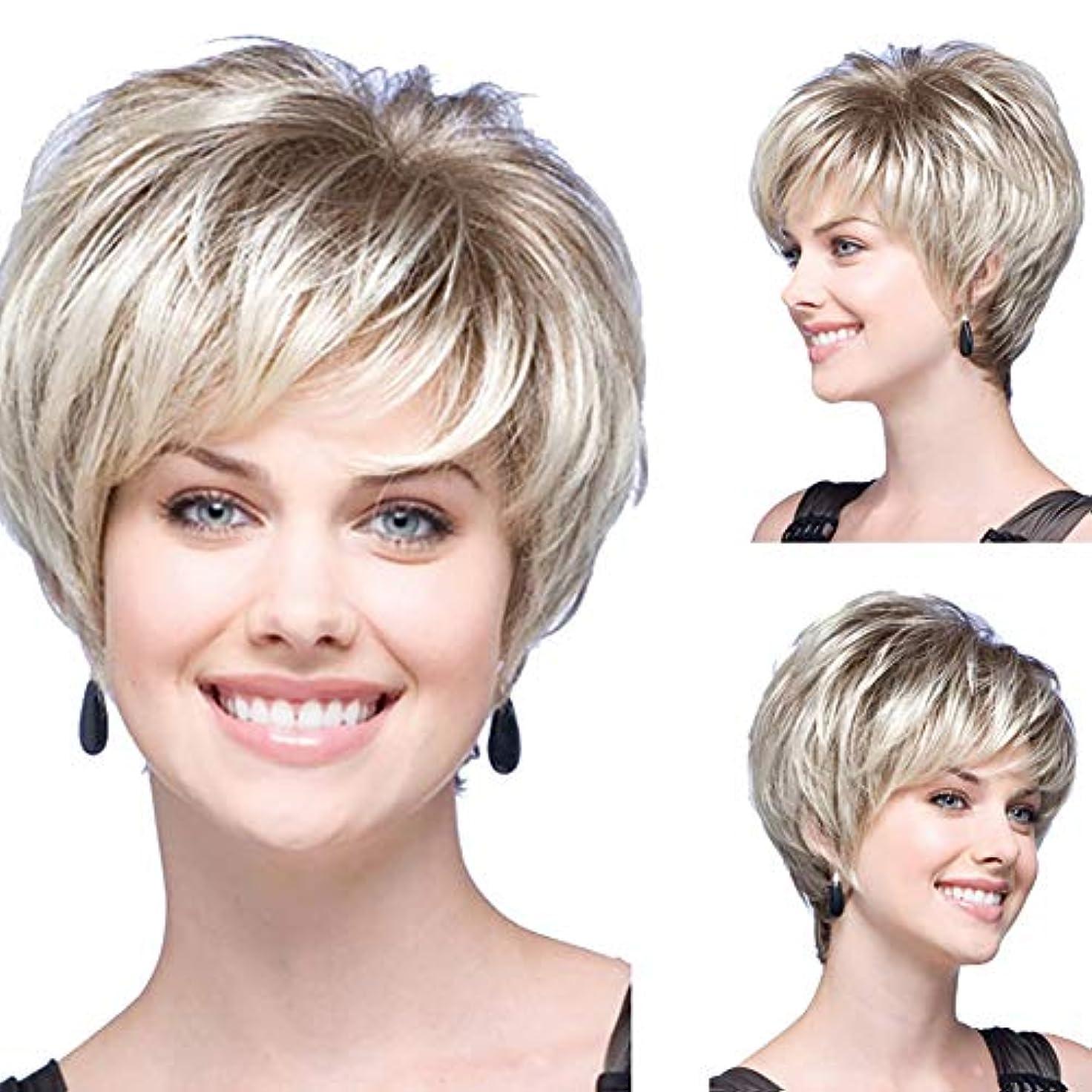 なめらか終点血まみれslQinjiansav女性ウィッグ修理ツール高温天然合成繊維レディショートコスプレウィッグヘアピース