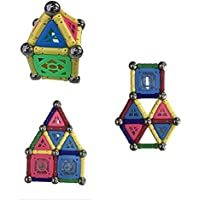 fsbbut Magnetic Building Sticks教育Stacking Constructionブロック50ピースセット