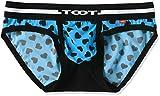 (トゥート)TOOT メンズ パンツ ハートモノグラム シームレスカップ ビキニ ナイロン 素材 (前閉じ) CV36G350 CV36G350 11 ブルー L