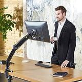 New F100A Full Motion Gas-strut Desktop FlexiMount Bracket TV/Monitor Stand