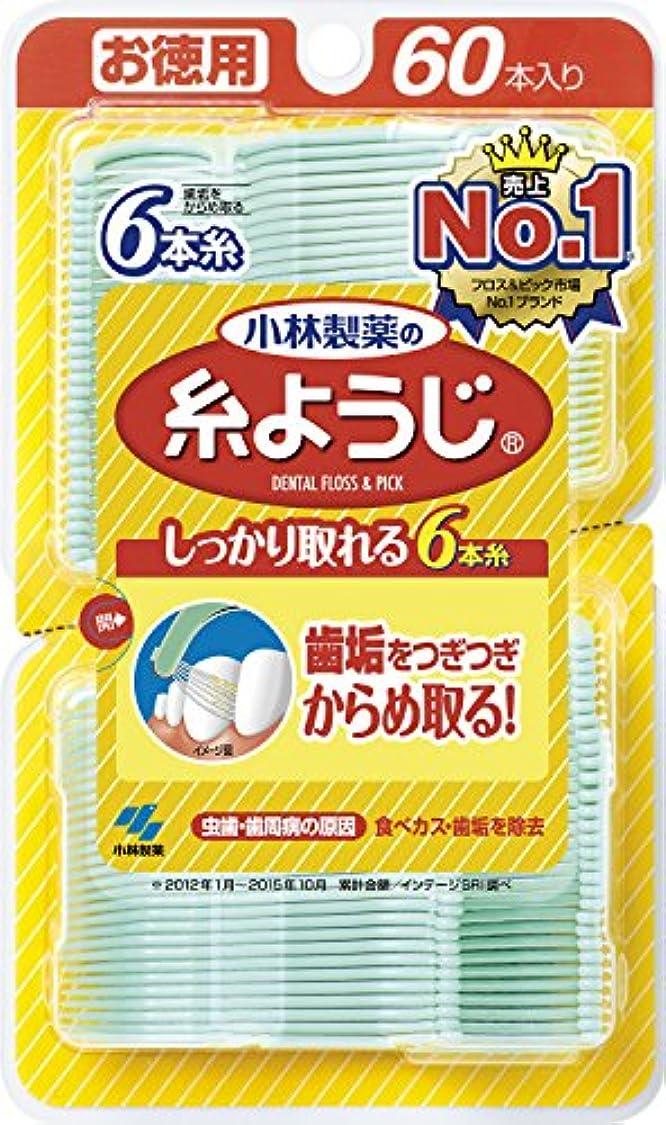 韓国語グリット三小林製薬の糸ようじ  フロス&ピック デンタルフロス 60本