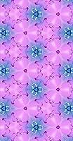 ポスター ウォールステッカー 長方形 シール式ステッカー 飾り 30×16cm Ssize 壁 インテリア おしゃれ 剥がせる wall sticker poster ピンク 水色 万華鏡 012687