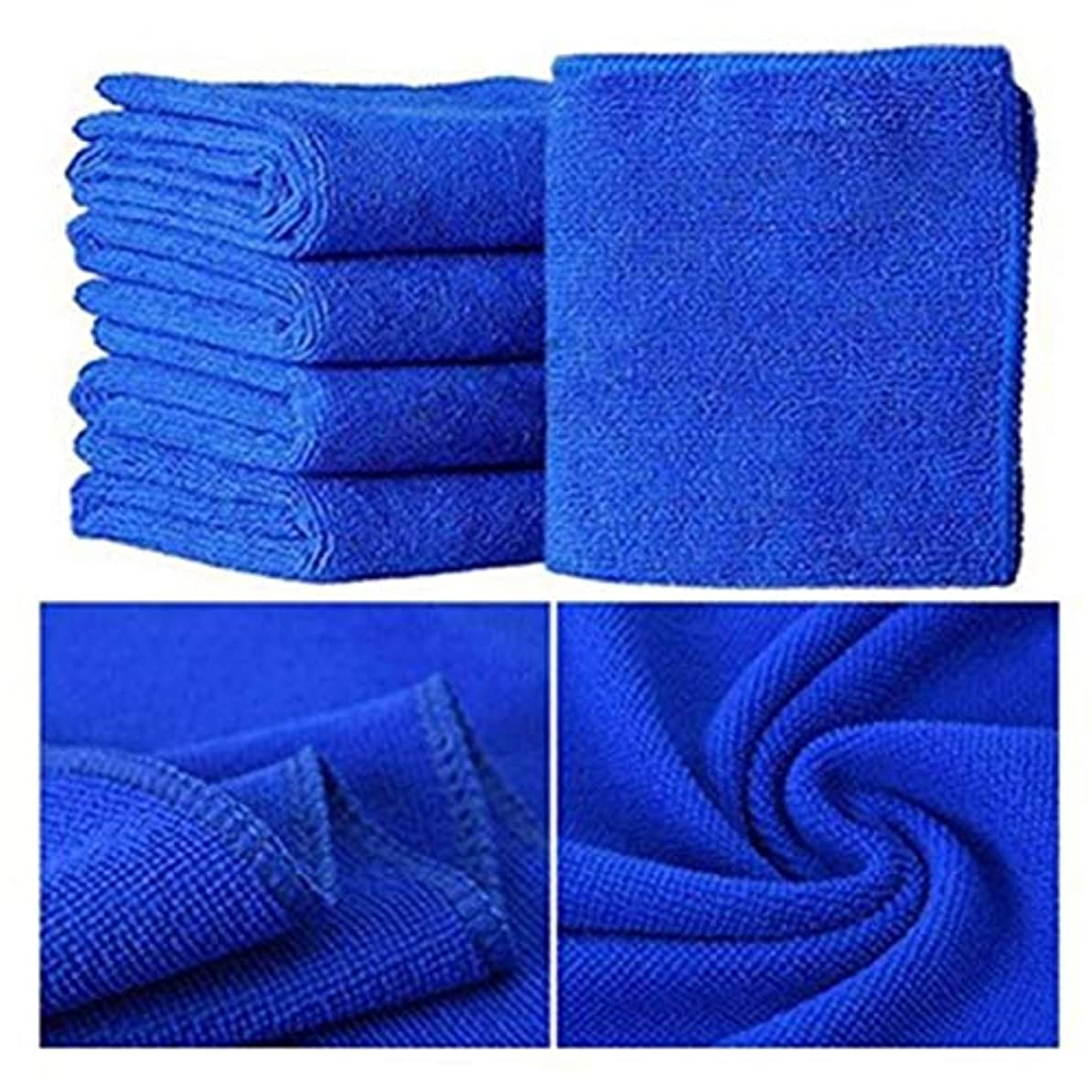巨大な攻撃横たわるMaxcrestas - 25*25cm 5 Pcs/ 10 Pcs Small Towel Soft Microfiber Towel great absorbent Towel for bathroom kitchen washing face skin body use [ Blue ]