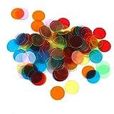 SONONIA 240枚 ビンゴゲーム用 チップ 半透明 直径3cm 6色 飾り