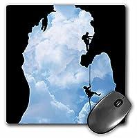 3drose LLC 8x 8x 0.25インチマウスパッド、ミシガン州Climbers ( MP _ 19469_ 1)