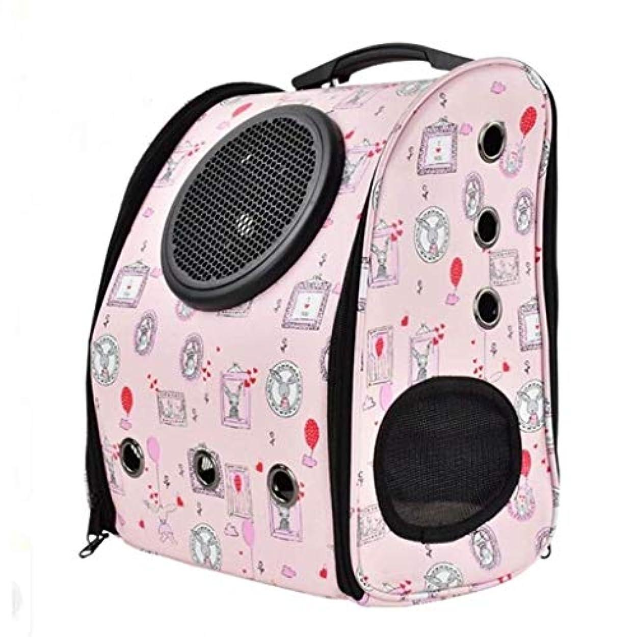 遠近法形摘むZAQXSW ペットバッグ猫バッグ犬バッグペットアウトバッグ猫アウト便利なバックパックスペースカプセルペットバッグ犬バックパック (色 : ピンク)