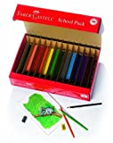 Faber and Castell Triangular Colored EcoPencils School Pack (20 ea of 12 Colors with Free Sharpeners) (240 Count) by Faber and Castell [並行輸入品]