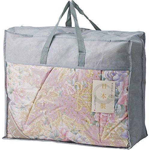 日本製 羽毛布団バッグ入り ピンク BUF-1301