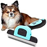 Dog Grooming Brush, Reduces up to 90% of Shedding Hair. This Dog Brush is Suitable as a Pet Deshedding Tool for Long, Medium and Short Fur.