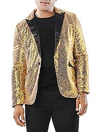 cfc9cb46229bd  MANMASTER(マンマスター) テーラードジャケット スパンコール 一つボタン ステージ衣装 メンズ