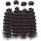 女性の髪織り密度150%ブラジル水の波髪1バンドル未処理のバージン人毛エクステンションブラジルの髪