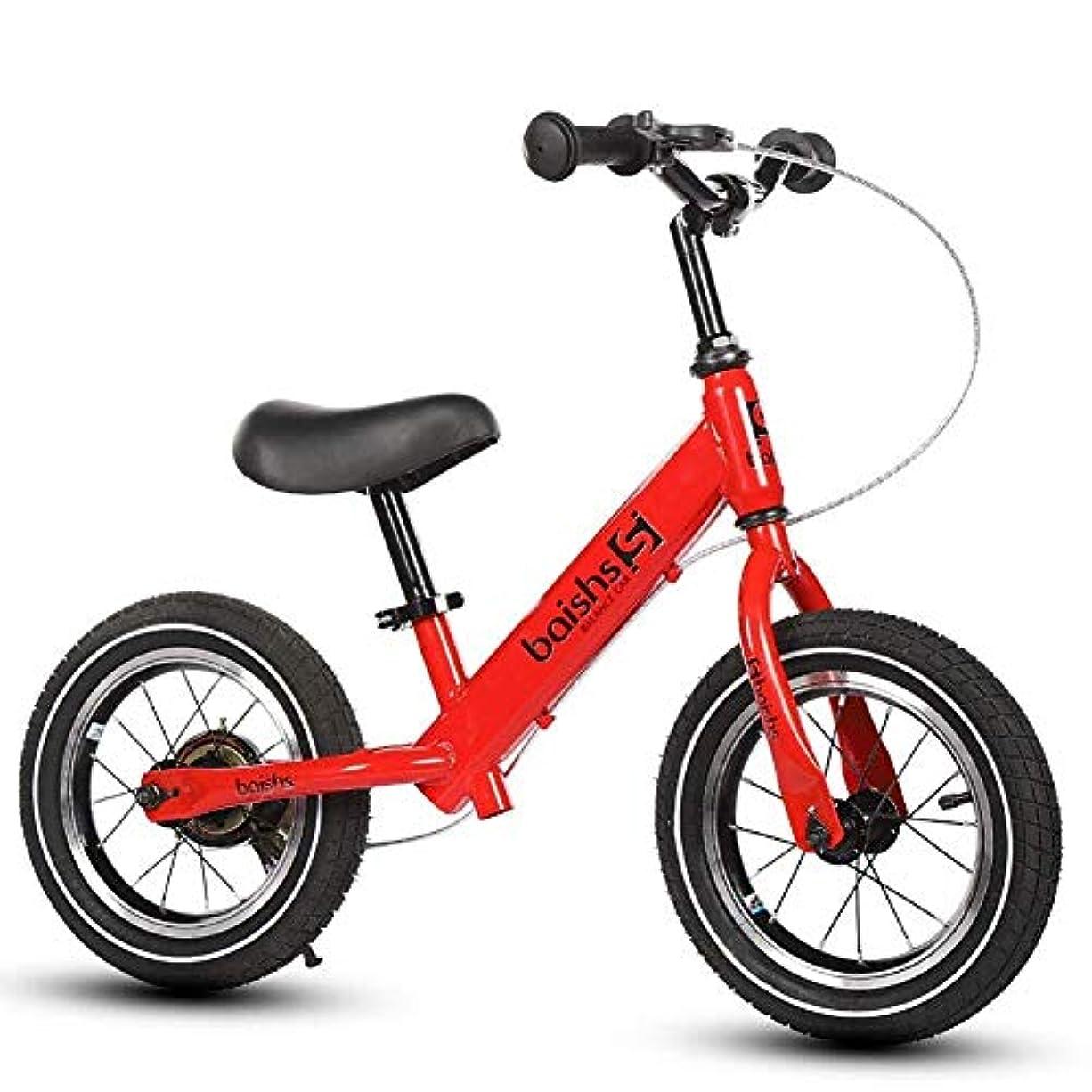 スクレーパー驚乱闘バランスバイク炭素鋼フレーム子供自転車自由に調整可能なフリースタイルシート高さ軽量子供バイク2-6年 ( Color : Red )