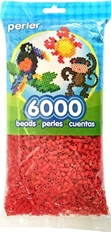 Perlerビーズレッドビーズバッグ( 6000カウント)