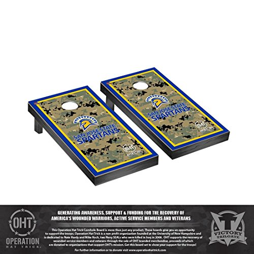 操作Hat Trick San Jose State SpartansデスクトップCornhole Game Set Borderバージョン