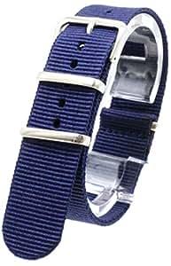 [2PiS] ( シングルネイビー : 20mm ) NATO 腕時計ベルト ナイロン 替えバンド ストラップ 交換マニュアル付 16-1-20