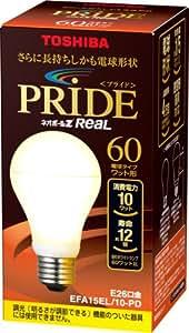 TOSHIBA ネオボールZリアルPRIDE A形 60Wタイプ 電球色 EFA15EL/10-PD