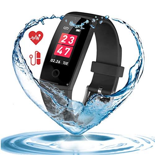 【2018年最新版】 スマートウォッチ 血圧計 心拍計 歩数...