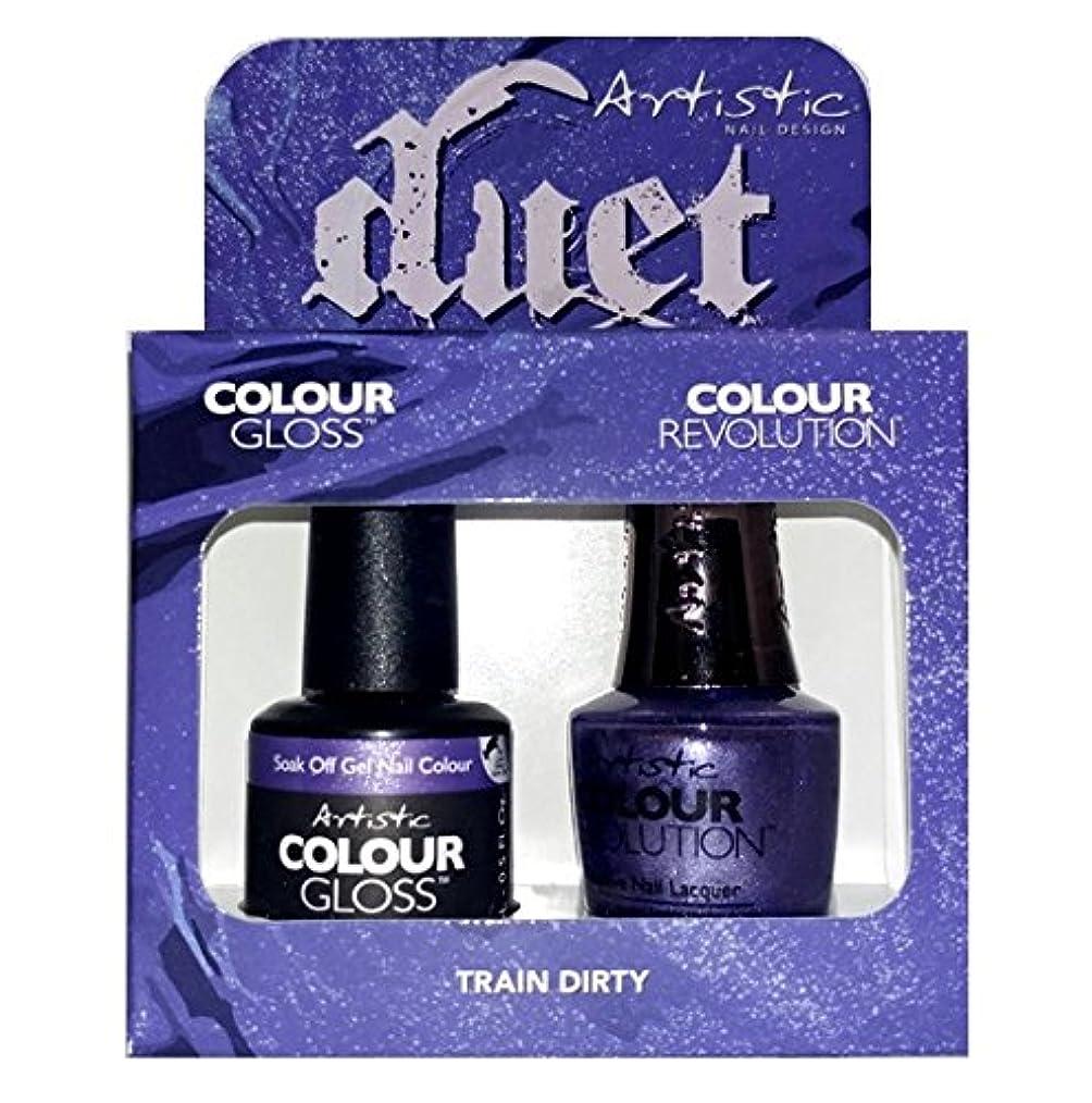 ファセット依存するクリップArtistic Nail Design - Duet Gel & Polish Duo - Train Dirty - 15 mL / 0.5 oz each