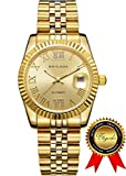 BRIGADA 腕時計 メンズ 自動巻き カレンダー付け ゴールド ベルト 大人 ファッション 時計