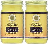 Ancient Organics, 100% オーガニック GHEE-8 FL OZ (ギー) 236.6 ml (2個セット) [並行輸入品]