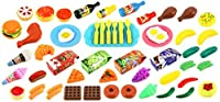 Deluxe Food Kitchen Collection 60 Pcs. Toy Food Playset w/ Assorted Toy Foods Fruits Vegetables Etc [並行輸入品]