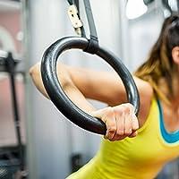 Yosoo体操リング、調節可能な強度トレーニングオリンピックノンスリップリングフィットネス強度マッスルトレーニングストラップフープのクロスフィット、および自宅ジムワークアウト