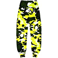 Aelstores Girls Neon Camouflage Ali Baba Harem Trousers Baggy Pants Kids Camo Leggings Costume Age 5-14 Years